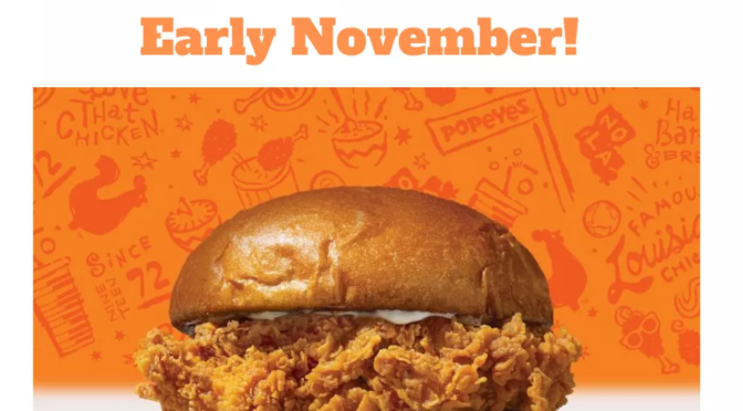 #Popeyes Chicken Sandwich set to RETURN early November! [Details]