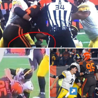 Fight Night! #Browns/ #Steelers FIGHT! #MylesGarrett & #Mason Rudolph brawl on the field! [Vid]