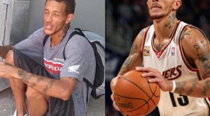 Former NBA star #DelonteWest getting BEAT DOWN in the streets of DC! [Vid]