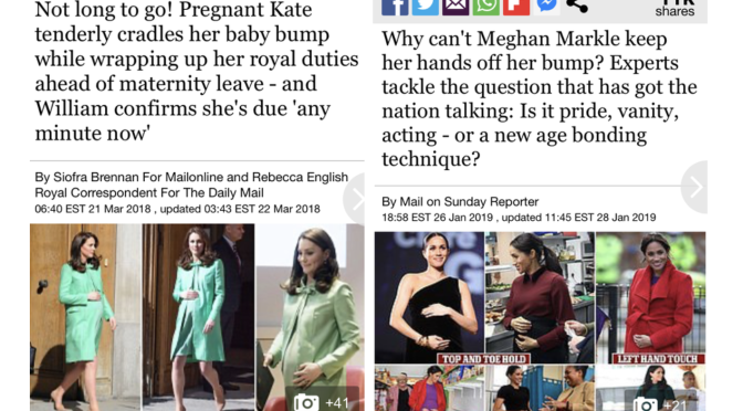 Hypocrisy? #Kate Middleton is praised for the same things #MeghanMarkle is DRAGGED for! Compare the headlines!