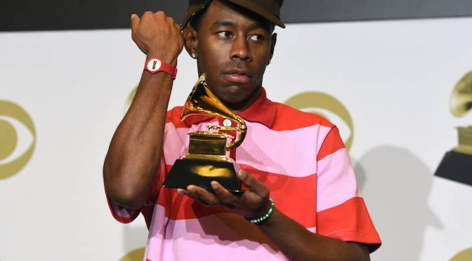#TylertheCreator says #Grammy win was like a BACKHANDED 'compliment'! [vid]