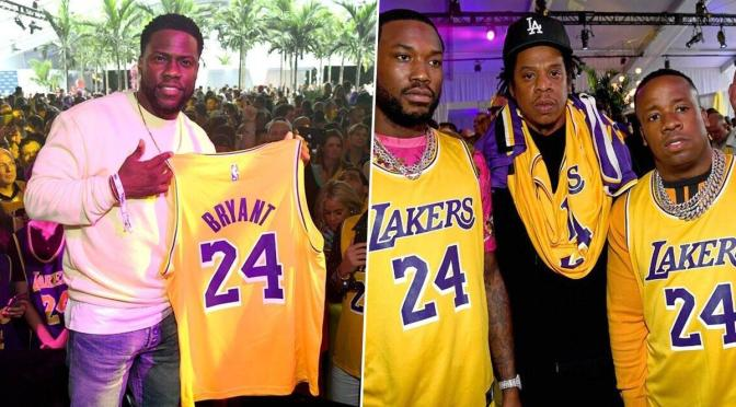 #JayZ #PostMalone #KevinHart and more rock #KobeBryant Jerseys at @Fanatics #Superbowl party! [Vid]
