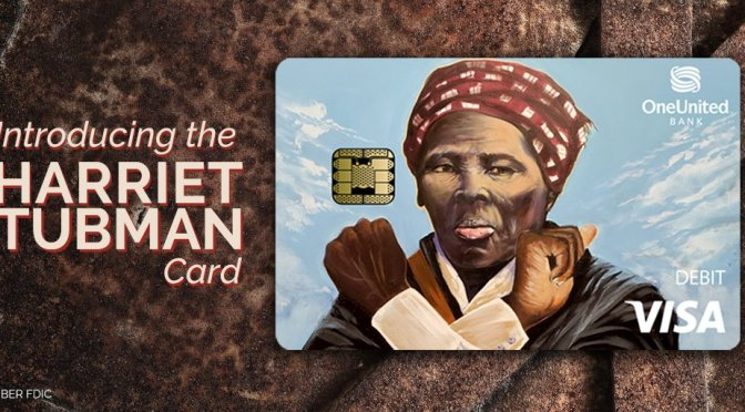 #OneUnitedBank has a #HarrietTubman card with #Wakanda hand salute!? [Pic]