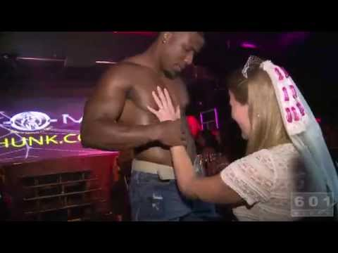 STRIPTEASE! Woman gives HEAD to stripper at bachelorette party! [NSFW]