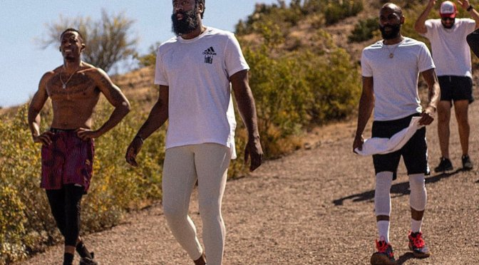 WTF MOMENT: #JamesHarden looking HELLA Crazy during Quarantine! [Pic]