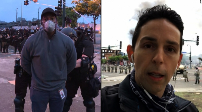 #CNN crew of color ARRESTED while white reporter in the same area says he was treated 'differently'! [Details]