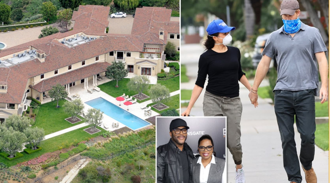#PrinceHarry & #MeghanMarkle living in #TylerPerry's Hollywood mansion facilitated by #Oprah! [Details]