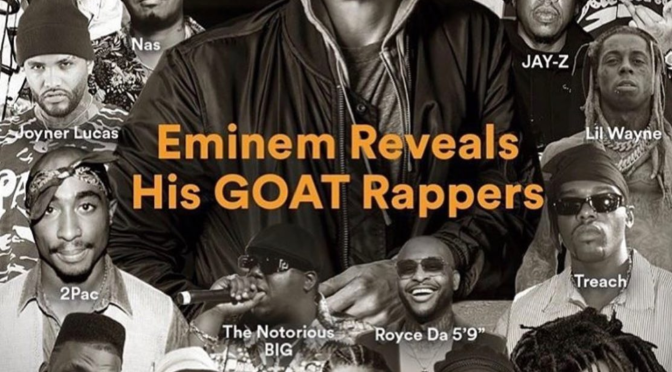 #Eminem lists his GOAT rappers! #Biggie #JCole #Tupac & more make the CUT! [DETAILS]