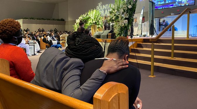 Powerful! #AhmaudArbery's mom with #BothamJean's sister at #GeorgeFloyd funeral! [Pic]