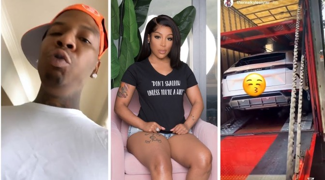 #KMichelle BLASTS #MoneybaggYo! Says the lambo truck is a RENTAL! [VID]