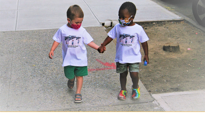 Best Friends from Viral Hugging Video Featured in Fashion Campaign to Benefit Charity