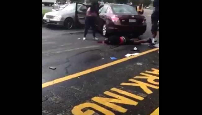 Viral video shows woman who ran her boyfriend over with her car for cheating! [Vid]