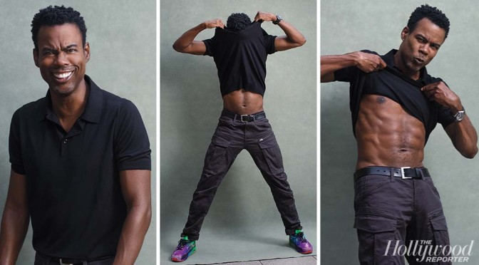 MAG TAG: #ChrisRock flaunts FAB ABS at 55 for #HollywoodReporter! [Pics]