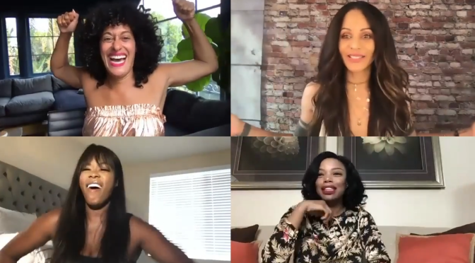 #TraceeEllisRoss & the cast of #Girlfriends REUNITE on Zoom for their 20th Anniversary! [Vid]