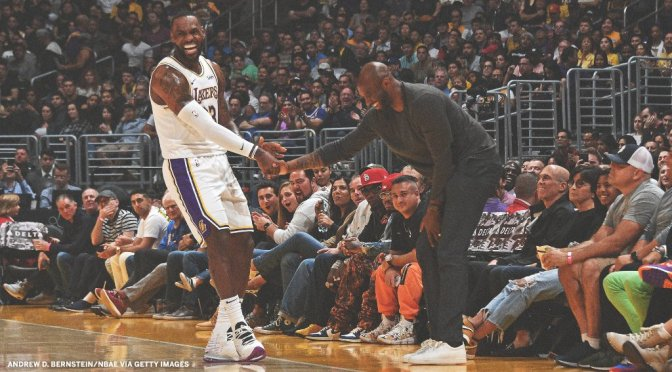 Hot Shot of the Day: 'A Year Ago…' #Kobe Bryant & #LeBronJames #TheLakeShow [PIC]
