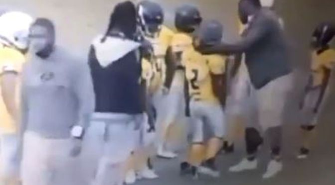 Video of coach #GerrelWilliams PUNCHING 9-year in the head during football game goes VIRAL! [Vid]