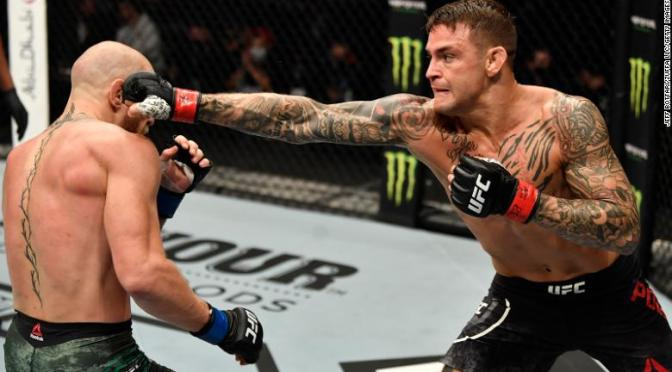 #DustinPoirier defeats #ConorMcGregor by KO in 2nd Round![details]
