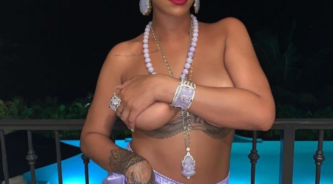Hot Shot of the Day: #Rihanna boobs out for #SavageXFenty [Vid]