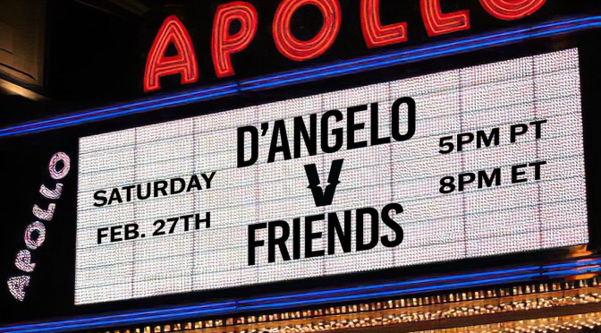 #Verzuz: #DAngelo v Friends tonight at 9pm! [Vid]