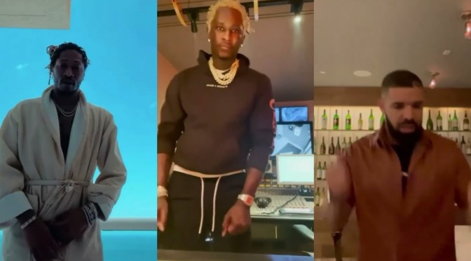 How did #YoungThug start the #SkiChallenge and why are so many CELEBS like #Drake, #Diddy #Future onboard!? [vid]