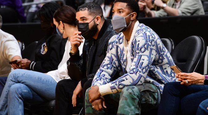 Star Tracks: #Drake & #MichaelBJordan spotted courtside at #Lakers/Warriors game! [pic]