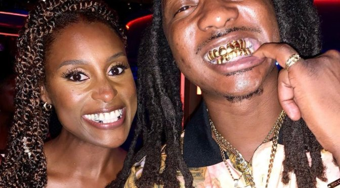 #IssaRae got a CUSTOM GRILL for her wedding from @ATLGrillz! [vid]