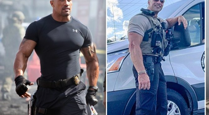 #DwayneJohnson REACTS to finding his 'Twin' in Alabama, Lt. #EricFields! The pic has gone VIRAL! [vid]
