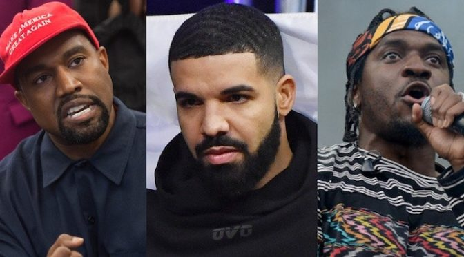 Does #KanyeWest want the SMOKE with #Drake!? Brings #PushaT into the MIX! [details]